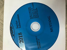 2018 Ford Mustang Service Shop Repair Workshop Manual ON CD NEW