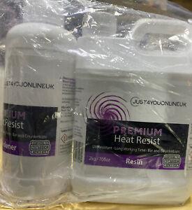 Premium Heat Resist Resin 2kg & 1kg Hardner