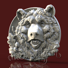 3D STL Model Hunting Bear for CNC Router Carving Machine Artcam aspire Cut3D