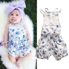 Newborn Baby Girl Bodysuit Floral Print Romper Jumpsuit Outfits One-pieces 0-18M