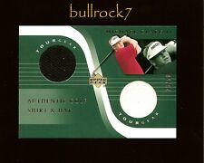 MICHAEL CLARK II 2001 Upper Deck Golf Tour Gear Shirt Hat Swatch #28/50 #0952