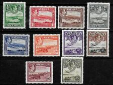 Antigua 1938 KGVI Pictorials - SS to 5/- - MLH