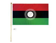 5' Wood Flag Pole Kit Wall Mount Bracket 3x5 Malawi 2010-2012 Country Poly Flag