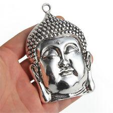 Tibetan Silver Large Buddha Charm Pendant 98*67mm Fit DIY Necklace Jewelry Craft