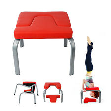 Yoga Headstand Chair Inversion Bench Exercise Fitness Stool PU Workbench Gym UK