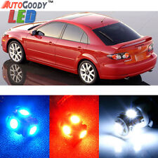 12 x Premium Xenon White LED Lights Interior Package Kit for Mazda 6 2003-2008