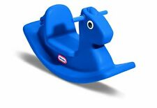 Rocking Horse for Toddlers Plastic Baby Rocker Blue Ride on Toy Saddle Girl Boy