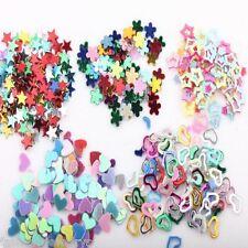 5000 Mixed Plastic Glitter Heart Star Flower Sequins Sticker Decal Nail Art 3mm