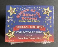 Riders of the Silver Screen Cowboy Cards Complete Factory Set Series 1