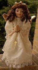 """VintageThe Broadway Collection Praying Angel Porcelain Doll 15"""""""