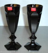 Baccarat Harcourt Darkside Black Champagne Flute(s) SET/2 Imperfect #2611008 New