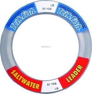 Trik Fish SWL0012501 Mono SW Leader Wrist Spool 125lb 50yd Clear