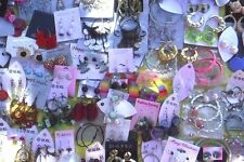 100 pairs wholesale dangle hoop studs earring lot fashion