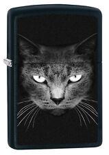Zippo Black Cat Face 60002473 black matte