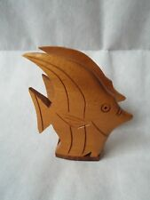 Vintage Hawaiian Koa Wood Angel Fish Napkin Holder Hawaii Hawaiiana Nr