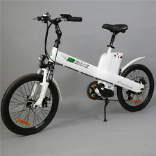 20in White electric e bike Pedal-Assist Mopped City Bicycle 350w Motor Seagull