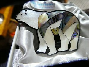 Gorgeous Glacier Pearle Polar Bear brooch, perfect for winter!