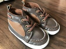 New Carter's Baby Boy's Hightop Crib Shoes Brown 9-12 Month