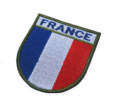 FRANCE FLAG FRENCH GALLO MORALE BADGE ARMY TACTICAL EMBRODIERED HOOK PATCH -01