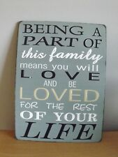 LARGE VINTAGE METAL WALL ART- BEING A PART OF this family means you will Love...