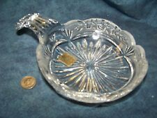 Brilliant Bleikristall Over 24% Lead Crystal Ribbed Handle Bowl Dish ;Germany