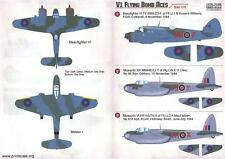 Print Scale Decals 1/72 V1 FLYING BOMB ACES P-51 British & American Aircraft