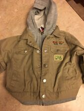 Toddler boys Baby Q Sz 24 Mths  Zip/ Snap Up Hoodie Jacket Big Rig Tractor Pull