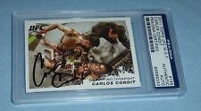 Carlos Condit Signed UFC 2011 Topps Moment of Truth Card #155 PSA/DNA COA Auto'd