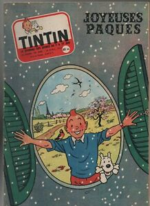 Journal TINTIN n° 443 du 18 avril 1957. Très Bel état - Couverture Tintin Hergé
