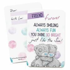 Me to You Friend Forever BFF Keepsake Card Cute Gift For Friends - Tatty Teddy