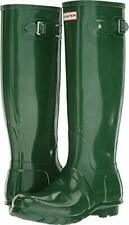Hunter Original Tall Ladies Dark Olive Rain Boots 9