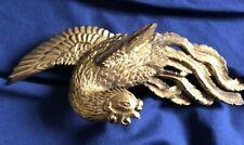 Antique Japanese Gold Leaf Makie Lacquer Samurai Kabuto Maedate, Maetate