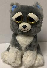 "Feisty Pets Sammy Suckerpunch 9"" Gray Dog Plush Evil Grin Plush Stuffed Husky"