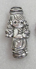 Vintage 925 Sterling Silver PMI Precious Moments GUARDIAN ANGEL PIN
