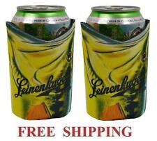 LEINENKUGELS FISHING 2 BEER CAN HOLDERS COOLER COOZIE COOLIE KOOZIE HUGGIE NEW