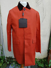 Mackintosh Original Mens Raincoat Dalkeith Bonded Wool Lining Size 42 Orange