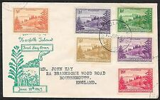 Norfolk Island covers 1947 FDCcover to Bournemouth