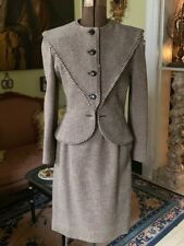 Vintage Valentino Heavy Wool Skirt Suit Size 6