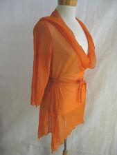 MOTTO size 12 Burnt Orange mesh knit top