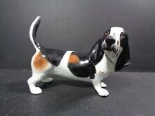 More details for vintage coalport bassett hound dog signed mc