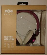 House of Marley Purple Positive Vibration Headphones W/Mic