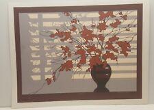 David McBride Limited Edition Serigraph Print Shutters II Flowers in Vase