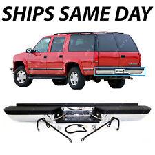 NEW Chrome - Complete Rear Bumper for 1993-1999 Chevy Suburban Tahoe GMC Yukon