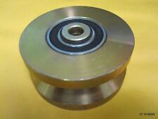 One (1) 6205-2RS V Groove Guide Pulley 1-3/4 x 3-3/4 OD