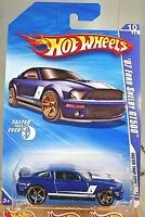 2010 Hot Wheels #138 Faster Than Ever 10/10 '07 FORD SHELBY GT500 Blue Variation