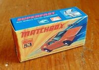 MATCHBOX SUPERFAST NO.53B, TANZARA, CUSTOM REPLACEMENT DISPLAY/STORAGE BOX
