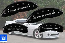 "2010-2015 Chevy ""Camaro"" LS LT Front + Rear Black MGP Brake Disc Caliper Covers"