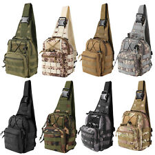 Tactical Chest Bag Men Backpack Cross-Body Molle Sling for Outdoor Hiking Travel