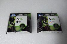 HP 60XL Black / Tri-color Ink Cartridges F2480 C4680 D2660 CC641WN CC644WN NEW
