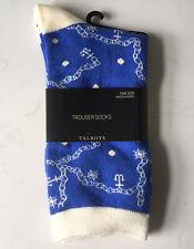 Talbots Nautical Anchor Blue Socks New